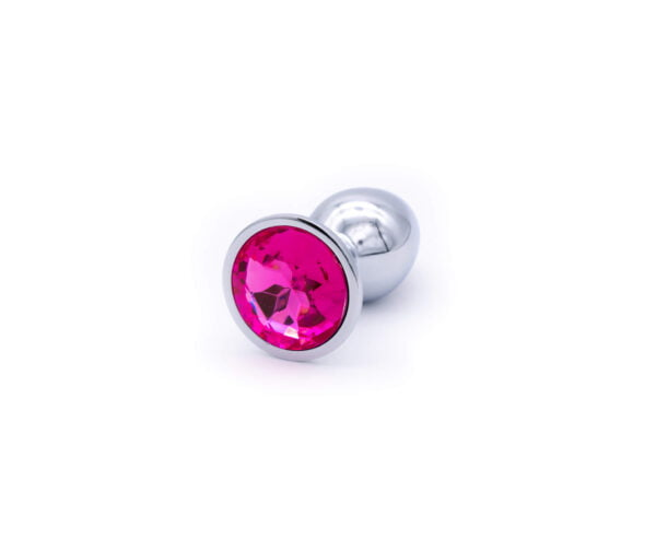 Jewelled Ruby Metal Butt Plug